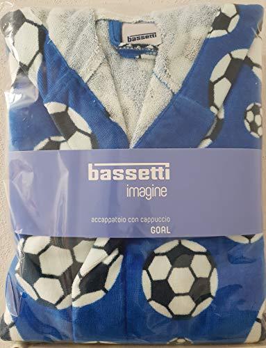Bassetti Albornoz Baby Niño Goal con Capucha Algodón 100%