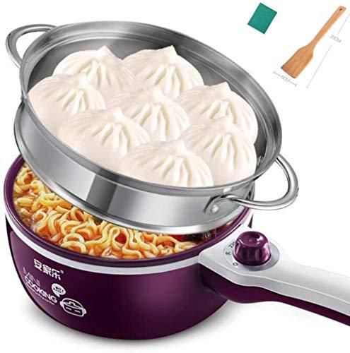 Mini elektrische kookplaat Slaapzaal Elektrische koekenpan Wok Noodle Pot Student Multifunctioneel laag vermogen voor 1-2 personen (upgrade)