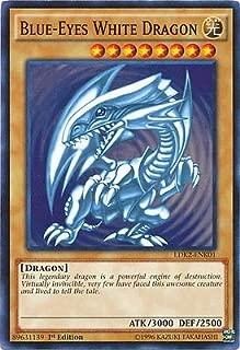 Yugioh 1st Ed Blue-Eyes White Dragon SDK art LDK2-ENK01 Common 1st Edition Legendary Decks II Cards
