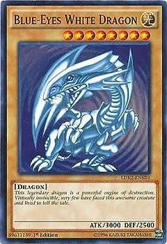 YU-GI-OH! Yugioh 1st Ed Blue-Eyes White Dragon SDK Art LDK2-ENK01 Common 1st Edition Legendary Decks II Cards