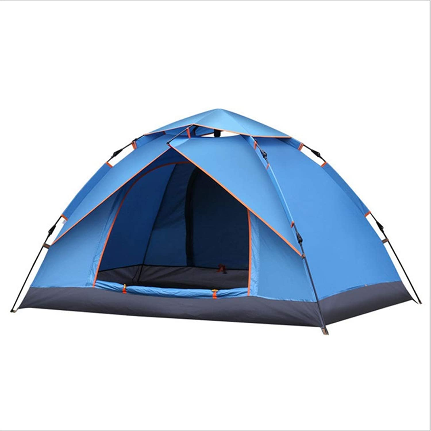Tent Outdoor 3-4 People Family Double Rain Camping Self-Driving Tour Tent 210  150  120cm
