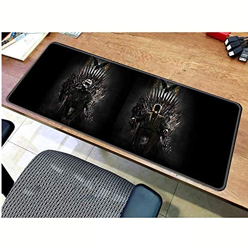 Gaming Mouse Pad Juego de Tronos Estera Grande Teclado Ratón Mat Juego extendido Mousepad for PC del Ordenador Alfombrilla de ratón (Color : D, Size : 800 * 300 * 3mm)