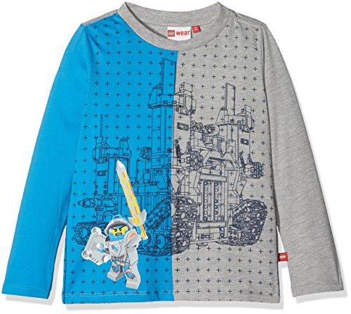 Lego Wear Jungen Lego Boy Nexo Knights Thomas 114-Langarmshirt Langarmshirt, Mehrfarbig (Blue 538), 146