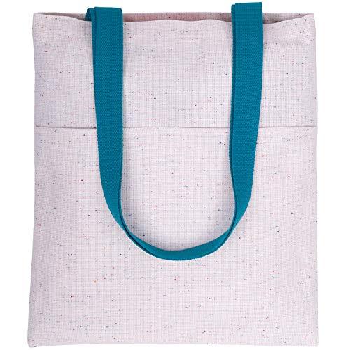 La Industria Handmade tejido reciclado e impermeable con bolsillos - sostenible, versátil y duradero (Asa azul)