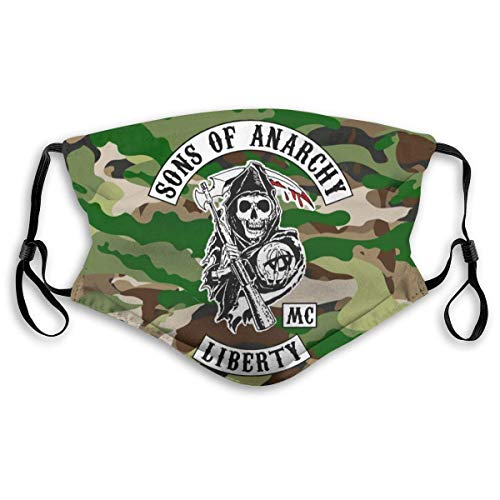 Mundschutz Mouth Cover Face Cover Sons of Anarchy Mouth Face Cover Headscarf Outdoor Seamless Reusable Scarf for Adult Kids