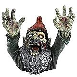 Horrorfilm Gartenzwerge, Wandelnde Tote Statue, Gruselige Untote Halloween-Skulptur Kampfgnomenstatue Für Gartenpatio Im Freien