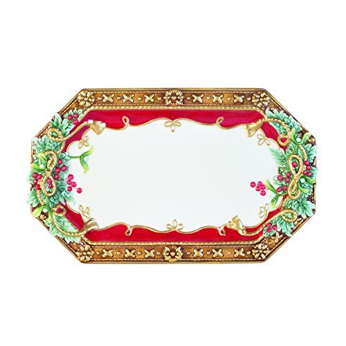 Fitz and Floyd Yuletide Holiday Tray, Standard, Multicolored