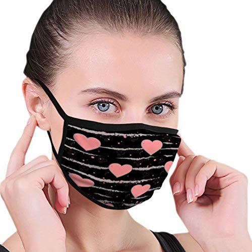 Mondmaskers herbruikbaar gezichtsmasker Valentijnsdag Grunge kwast streep harten