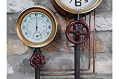 Casadomu Steampunk Clock Industrial Pipe Wall Hanging Large Antique Style Decor Timepiece #1