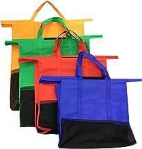 Sunwuun Reusable Grocery Bags Shopping Bags Nylon Storage Foldable 33 40 10cm Foldable Protable Carrier Bag