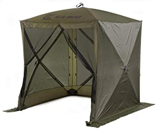 QUICK-SET Clam Traveler Portable Camping Outdoor Canopy Shelter + 3 Wind Panels