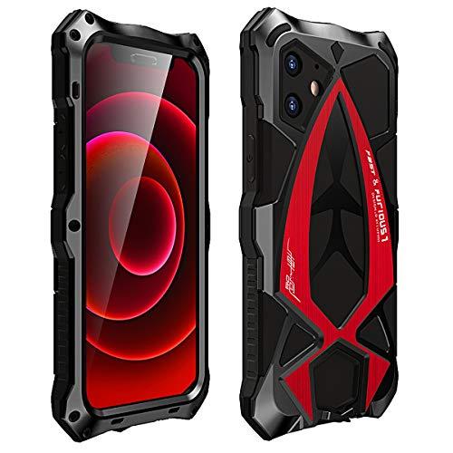 MOSSTAR Funda iPhone 12 / iPhone 12 Pro, Antigolpes Metal Estuche Protectora,[Rugged Armour][Estilo de coche deportivo]Absorción de Choque y Duradera Protección de 360 grados Full Body Carca
