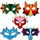 ZSWQ Dinosaur Party Masks Dinosaur Mask Compleanno Feste in Maschera Masquerade per Bambini Adulti i a Tema Party Halloween Natale Favori Decorazioni