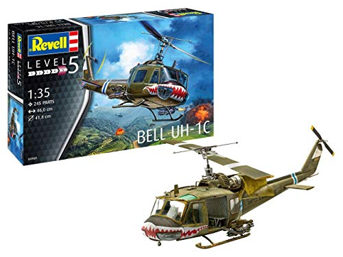 Revell RV04960, Länge 46cm 14 Modellbausatz Bell UH-1C im Maßstab 1:35, Level 5, Multicolour