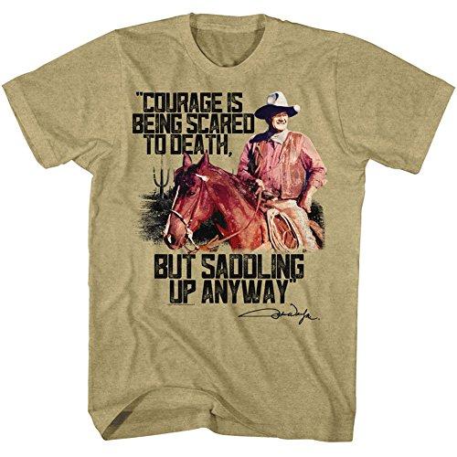 American Classics John wayne valor de color caqui de la camiseta para hombre XX-Grande Beige