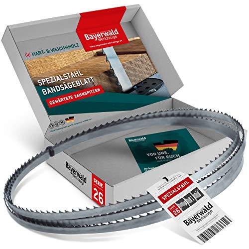 Bayerwald - Hoja de sierra de cinta (2490 x 10 x 0,5 x 6 mm, para todo tipo de madera/sierra de cinta)
