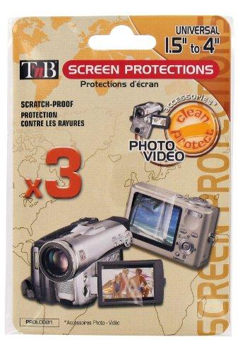 T'nB PROLCD01 Screen Protection Films met Doeken voor 1,5 tot 4-inch LCD-schermen Pack van 3