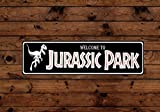 Scott397House Tin Signs Jurassic Park Aluminum Sign Indoor Outdoor Use Holiday Vintage Style Metal Poster Plaques for Funny Wall Decoration Art Sign Gifts - 4x18