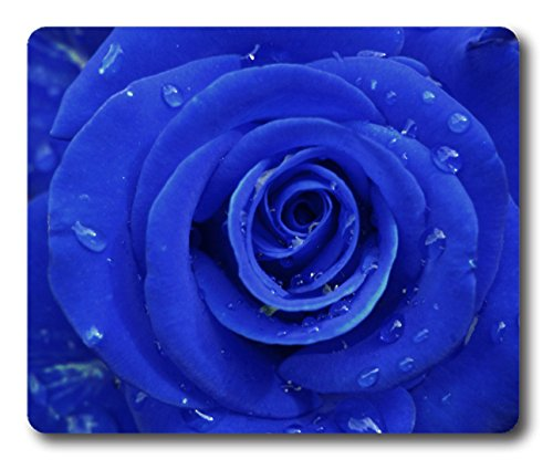 Single Blue Rose with Water drop water drop dew fresh UCFO Customized Mouse Pad Rectangle Mouse Pad Gaming Mouse mat in 240mm200mm3mm NE07101176