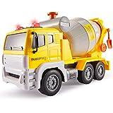 HERSITY Camión Grandes de Juguete Vehículos de Construccion Hormigonera Juguete con Luces y Sonidos Regalos para Niños 3 4 5 6 Años