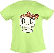Halloween kindershirts met doodshoofd meisjes T-sh...
