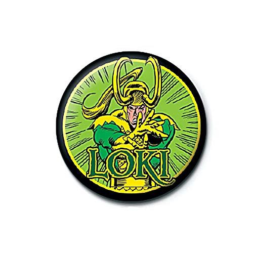Pritties Accessories Echte Wunder-Comics Loki Taste Abzeichen Stift Retro Thor Odinson Asgard