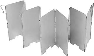 N-A Windshield, 9 Plates Aluminium Windscreen Lightweight Mini for BBQ Picnic Camping Equipment