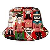 Tiffany Church Weihnachtszeit Nussknacker Sweet 3D Print Eimer Hut Unisex Fisherman Sun Hat Faltbarer Doppelseitendruck Outdoor Cap Beach Hat für