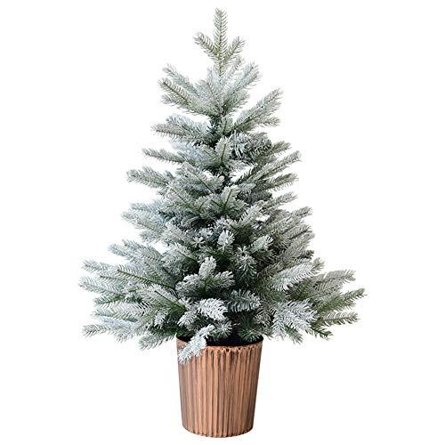 Weihnachtsbaum,3Ft (90Cm) Skandinavische Blaufichte Weihnachtsbaum Kleiner Weihnachtsbaum Mini Weihnachtsdekoration Tischdekoration Innengebrauch