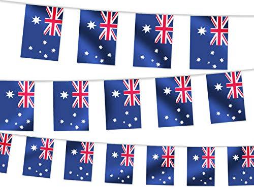 Wimpel Dekoration Länderwimpel Länderfahnen Wimpelkette Länderflaggen Fanartikel, wählen:W-AU Wimpel Australien