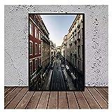AZTeam Carteles De Barras EM Lisboa Portugal Lienzo Pintura Cuadros de Arte de Pared para Cuadros de Sala Impresiones en Lienzo Arte de pared-50x75cm sin Marco