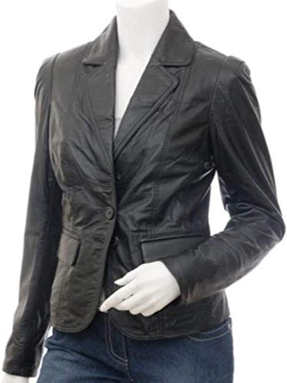 New Fashion Style Women's Leather Jackets Black J70_