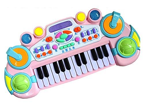 お子様用玩具 機能付き 電子ピアノ&キーボード 録音機能付き! (ホワイト)