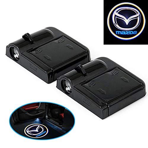 D08 2 Stück Wireless Auto Tür Licht LED Car Willkommen Projector Logo passend für Mazda