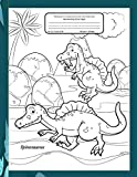 Primary Composition Notebook Handwriting Story Paper: Practice Writing Sheets | K-3 Grades School Book | Dotted Mid-Line With Picture Frame | Bonus ... Color | Spinosaurus Dinosaur Cover to Colour