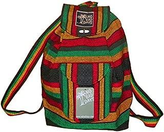 No Bad Days Baja Backpack Ethnic Woven Mexican Bag - RASTA