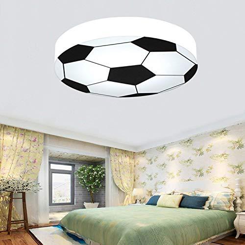 Wlgt Kinderzimmer Lampe Kreative Fußball Deckenleuchte Moderne LED Jungen Mädchen Augenschutz Deckenleuchte E27 Fußballlampe Custom Ball Emblem Lampe