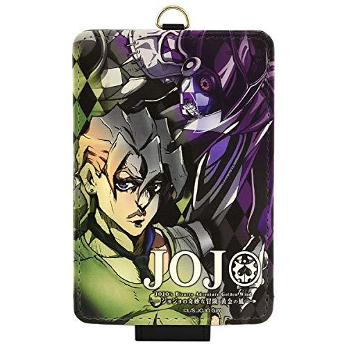【カラー:フーゴ】ジョジョの奇妙な冒険 黄金の風 iCカードケース キャラクター PUレザー パスケース カードケース カード入れ レザー調 JOJO グッズ 定期入れ 定期ケース ストラップ付き s-gd_7b093
