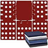 Gorilla Grip Premium Laundry Folding Board, Heavy Duty Clothes Shirt Folder, Collapsible Liner for Easy Storage and Travel, Flip Fold Board for T Shirts, Clothing, Tees, for Home, Apartment, Red