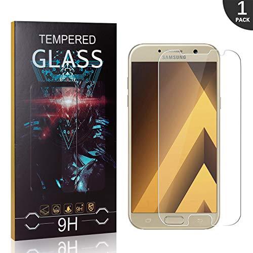 Verre Trempé Compatible avec Galaxy A3 2017, LAFCH 1 Pièces Dureté 9H Film Protection en Verre trempé Écran Protecteur Vitre, sans Bulles d'air Protecteur d'écran pour Samsung Galaxy A3 2017