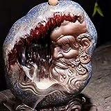 luckyyyy Quemador de Incienso, de Reflujo Casero Adornos de Cerámica Club Budista Chino Arena Púrpura Estatua de Buda Ceremonia del té en Casa Incubación de Madera de Aga