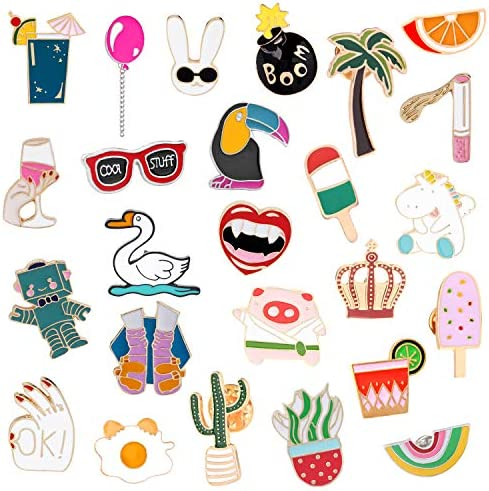 ZTWEDEN 25 Pieces Cute Enamel Lapel Pin Cartoon Brooch Pin Badges Brooch Pins Set for Clothing product image