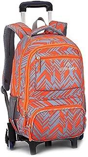 Children's Bag/Rolling Backpack Luggage Wheeled Backpack Trolley School Bags for Boys Girls Kids Teenagers Students Schooling Travel Wheel Detachable red-2 Wheels