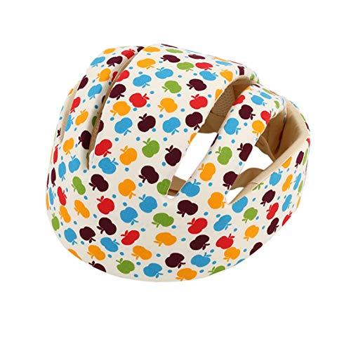 QiKun-Home Baby-Schutzhelme Baumwolle Säuglingsschutzhut Kopfschutz für Neugeborene Jungen Mädchen Crashproof Anti-Schock-Hut Apfelblume