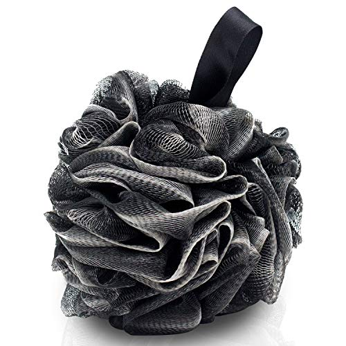 4 Packs Bath LoofahsEcoFriendly Carbonized Bamboo Bath Shower Sponge Mesh Pouf Loofahs Shower Ball Loofahs Bath SpongeExfoliateCleanseSoothe Skin60g/pcs