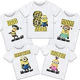 Minions birthday shirt, Minions birthday tshirt Minions family shirts, Minions theme party shirts, Minions matching shirts, Minions tshirt