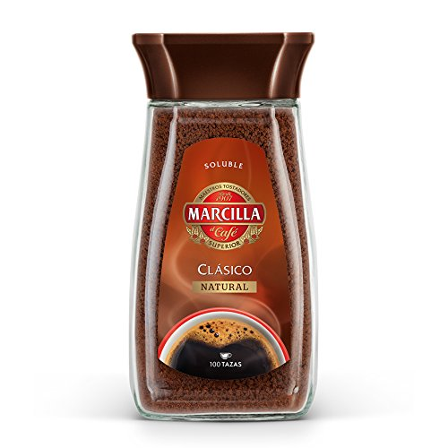Café Marcilla soluble Clásico Natural, 200 gr - [Pack de 6]