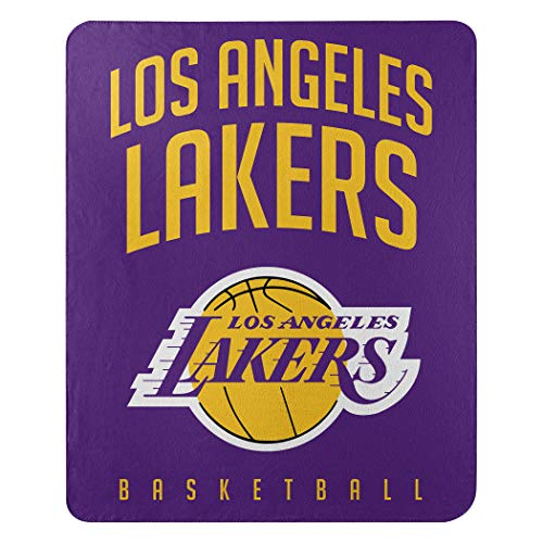 Northwest NBA Los Angeles Lakers 50x60 Fleece Layup DesignBlanket, Team Colors, One Size
