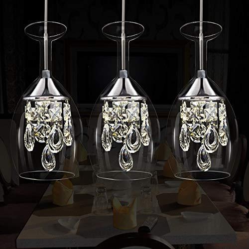 Einstellbare Led 3 Kopf Kristall Pendelleuchte, Luxus Europäischen Restaurant Weinglas Dekorative Deckenleuchte Moderne Minimalistische Kreative Wohnzimmer Bar Gang Leuchte Kronleuchter