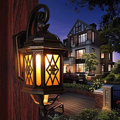 Beautiful Home Lighting/Vintage buitenwandlamp Retro E27 Edison-wandlamp aluminiummetaal waterdichte wandlamp patio poort verlichting Garden Villa Terras Balkon Decoratie bevestigingen Bele